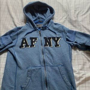 Blue Abercrombie & Fitch zip up jacket